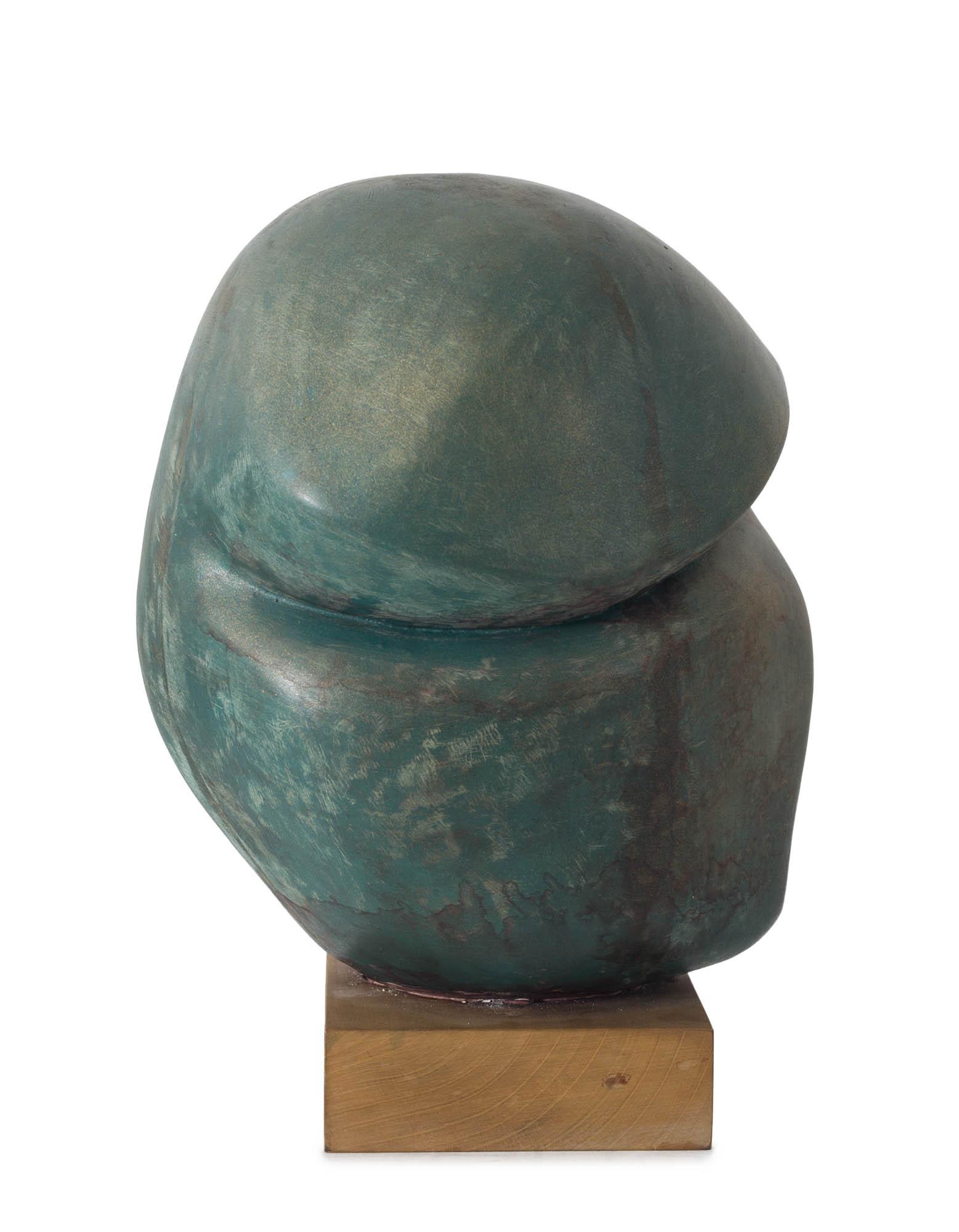 ANA BEŠLIĆ<br><br>Sanja u beretki (1979)<br>poliester<br>38 cm × 32 cm<br><br>Izlagana u Muzeju savremene umetnosti Vojvodine u Novom Sadu<br>na izložbi Emancipacija forme, 2015.