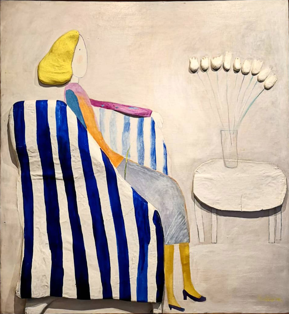 MILENA JNK<br><br>U fotelji (1971)<br>130 cm x 120 cm